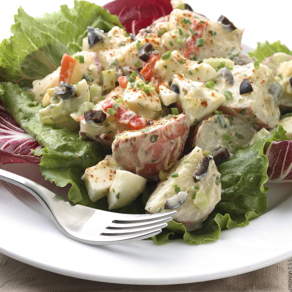 Roasted Garlic Potato Salad EatingWell Test Kitchen
