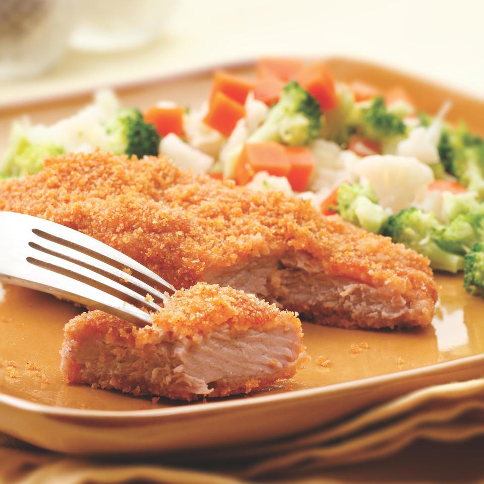 Golden Baked Pork Cutlets EatingWell Test Kitchen