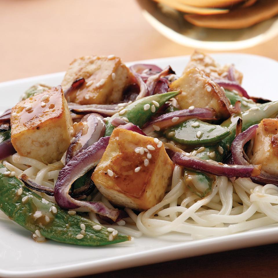 Sesame-Maple Roasted Tofu EatingWell Test Kitchen