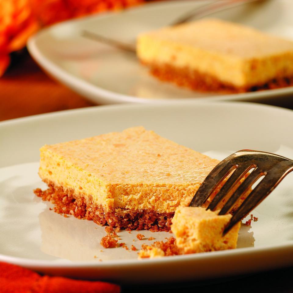 Squash Cheesecake Bars EatingWell Test Kitchen