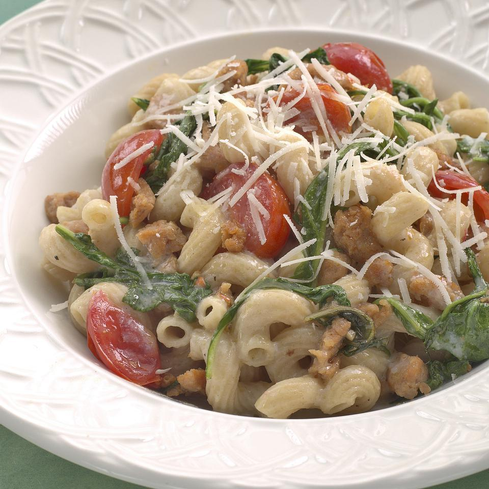 Fusilli with Italian Sausage & Arugula EatingWell Test Kitchen
