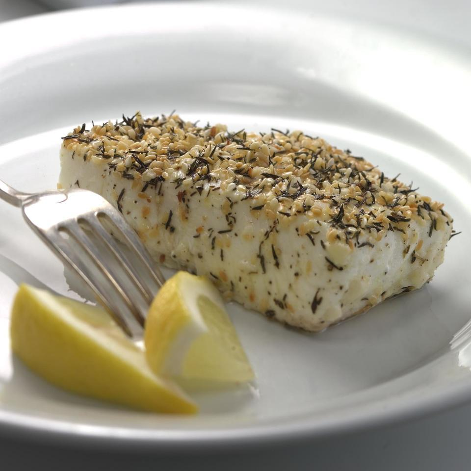 Thyme- & Sesame-Crusted Pacific Halibut EatingWell Test Kitchen