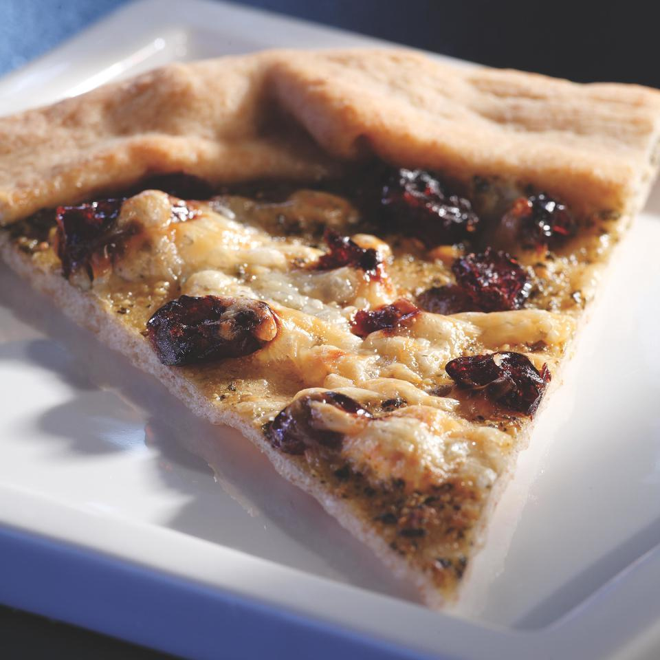 Talk about easy! Almost everything in this pesto-cranberry tart is store-bought. Although the tart can be enjoyed shortly after it comes out of the oven, it's just as good served at room temperature. Source: EatingWell Magazine, November/December 2007