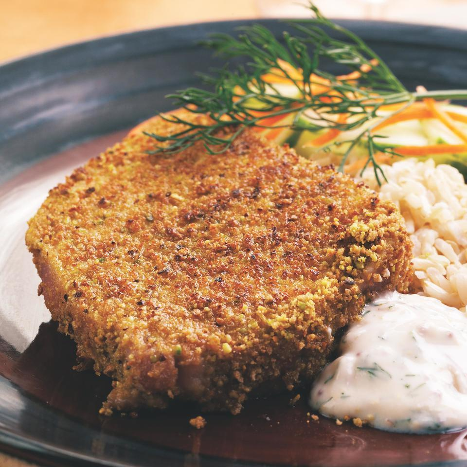 Pistachio-Crusted Tuna Steaks EatingWell Test Kitchen