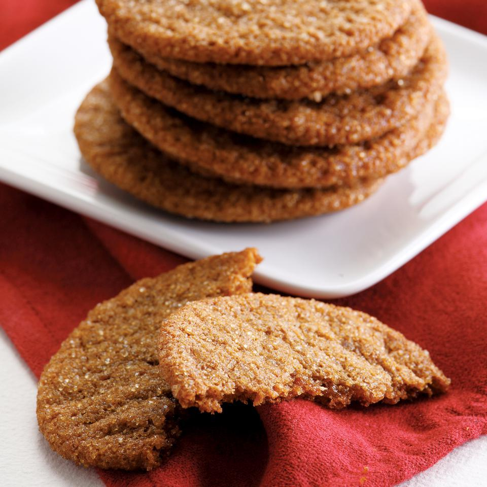 Healthier than traditional ginger cookies, this recipe subs whole-wheat pastry flour for all-purpose flour and canola oil for shortening but packs a punch with the delicious ginger flavor. The best part? They only require 10 minutes of prep for an easy Christmas cookie recipe your whole family will love.