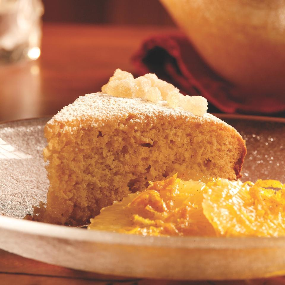 Citrus Ginger Cake with Spiced Orange Compote Peggy Knickerbocker