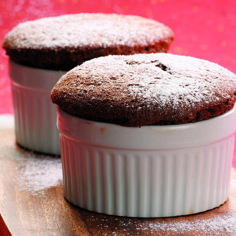 Soufflés may look like a restaurant-only dessert, but they are actually easy to make. Whip them up right after dinner and enjoy while they're still warm from the oven.