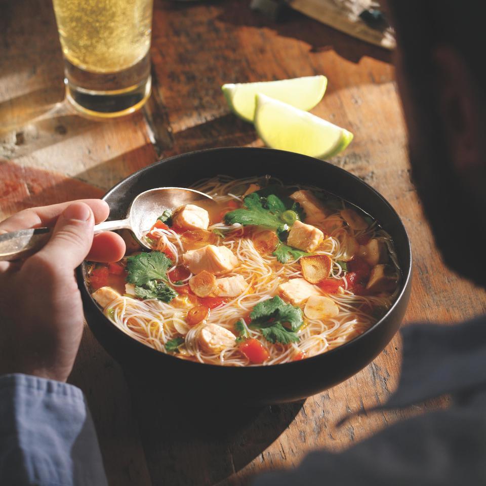 Southeast Asian-Inspired Salmon Soup John Ash