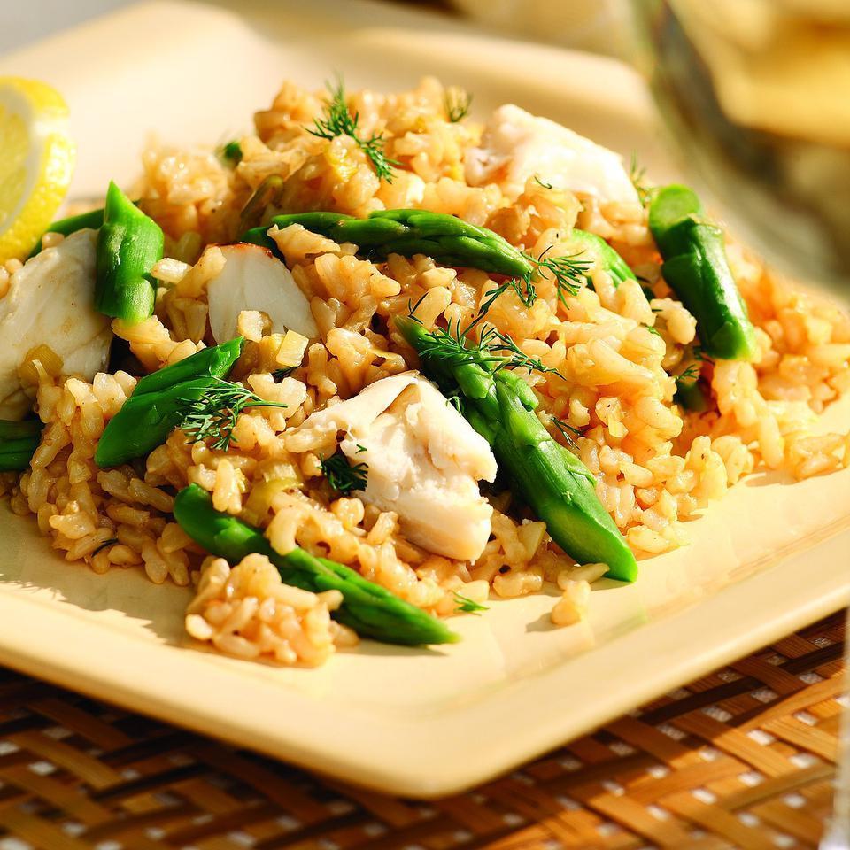 Crab Pilaf EatingWell Test Kitchen