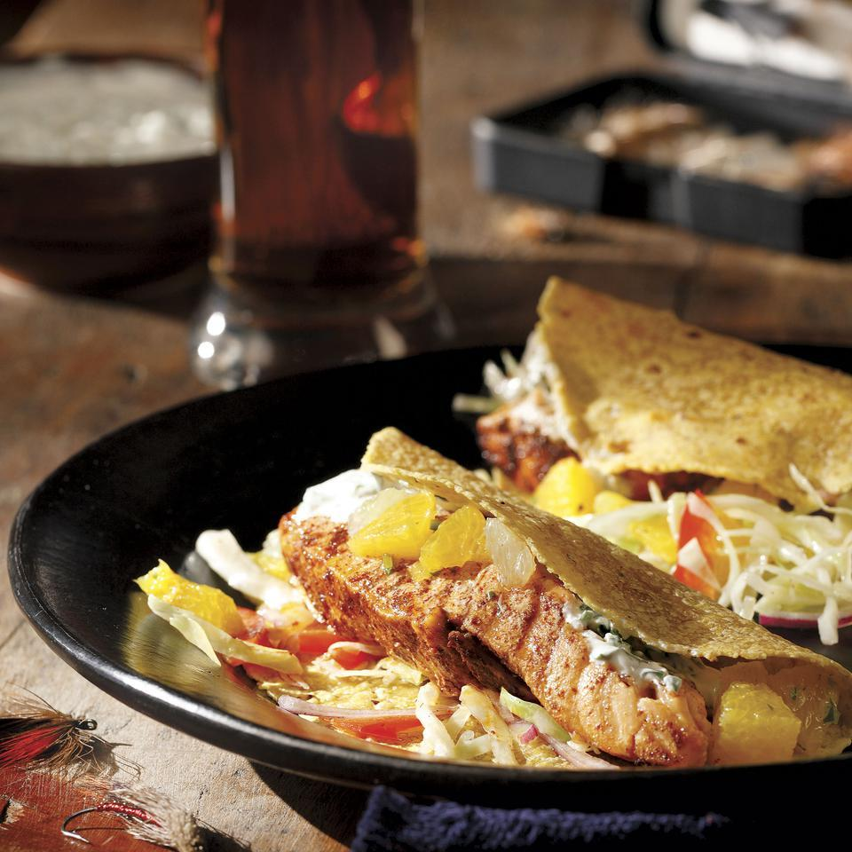 Grilled Salmon Soft Tacos John Ash