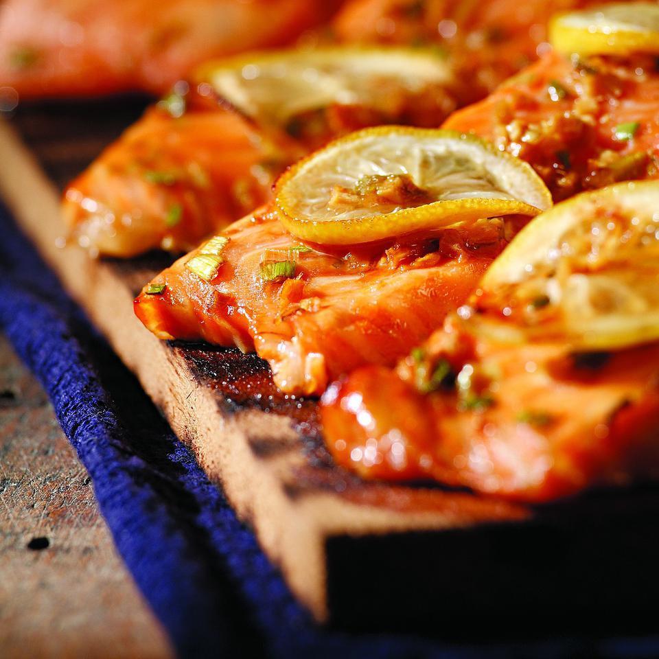 Plank-Grilled Sweet Soy Salmon John Ash