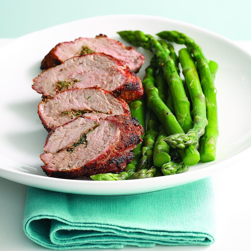Grilled Pork Tenderloin with Aquavit Seasonings (Snapse Krydret Svine Morbrad) Joyce Hendley