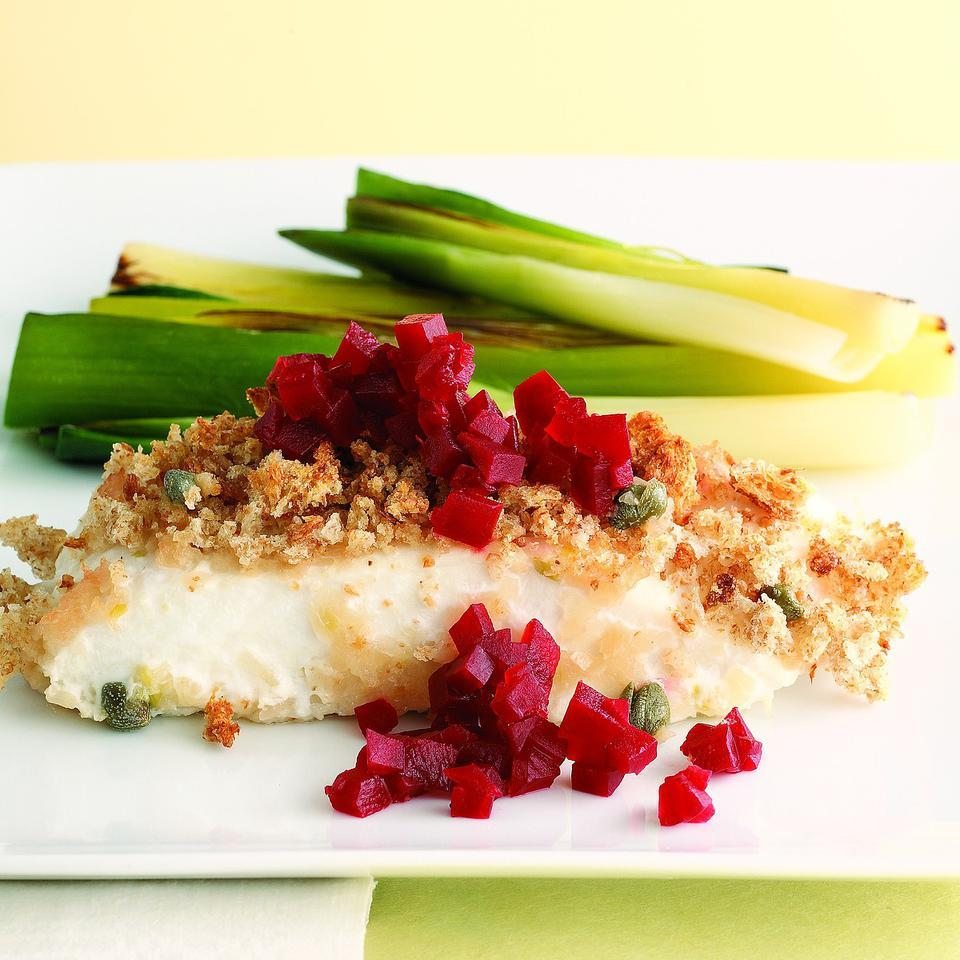 Roasted Halibut with Pickled Beets (Stegte Helleflynder med Rodbeder) Joyce Hendley