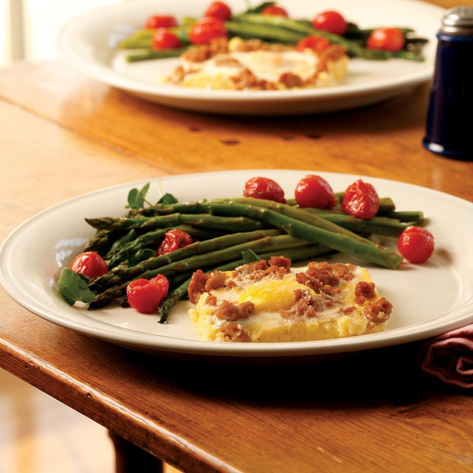 Cheesy Polenta & Egg Casserole Marie Simmons