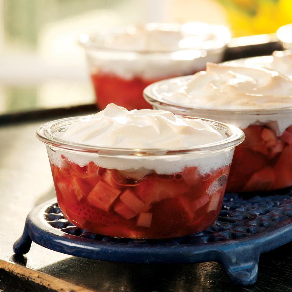Meringue-Topped Strawberries & Rhubarb Marie Simmons