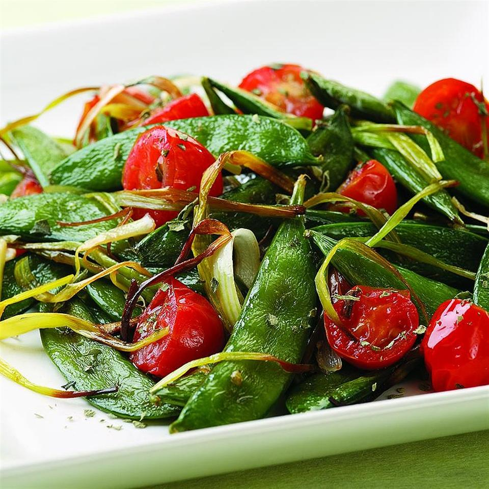 Italian Roasted Snap Peas EatingWell Test Kitchen