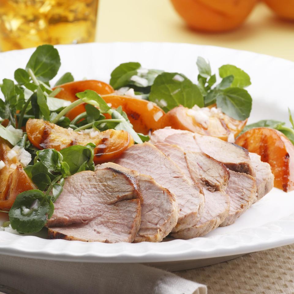 Grilled Pork Tenderloin & Apricot Salad EatingWell Test Kitchen