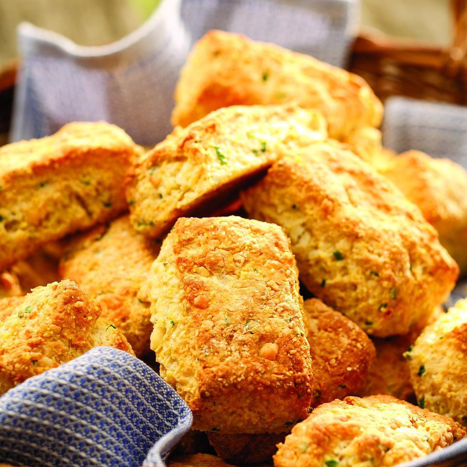 Cheddar Cornmeal Biscuits with Chives Molly Stevens