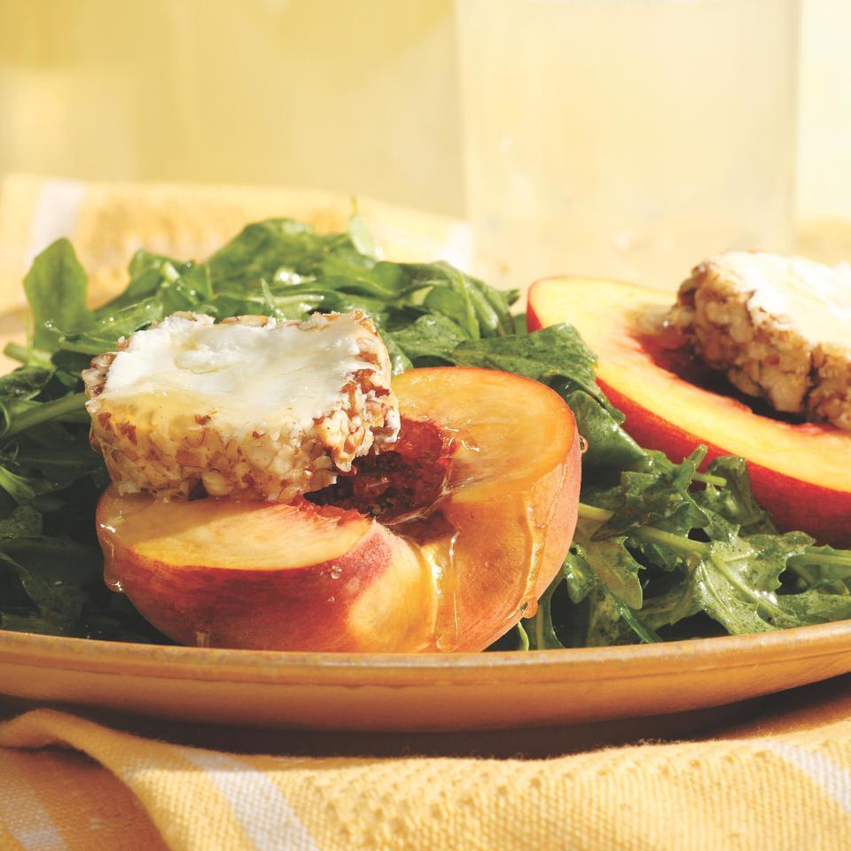 Arugula Salad with Honey-Drizzled Peaches Virginia Willis