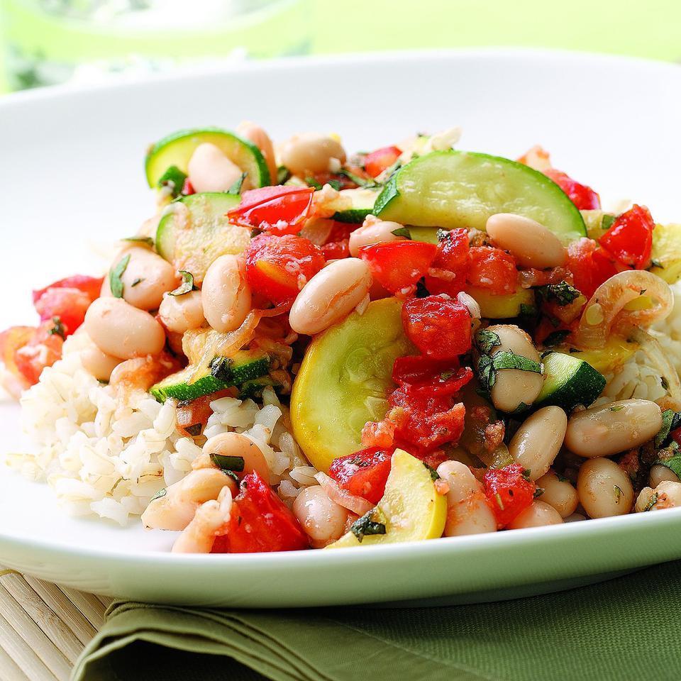 Summer Squash & White Bean Saute EatingWell Test Kitchen