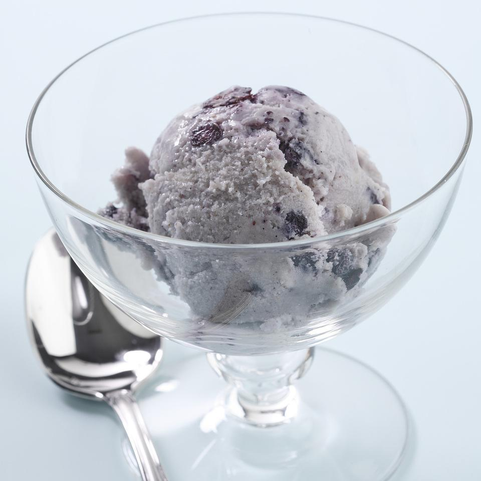 Blueberry-Cinnamon Swirl Ice Cream EatingWell Test Kitchen