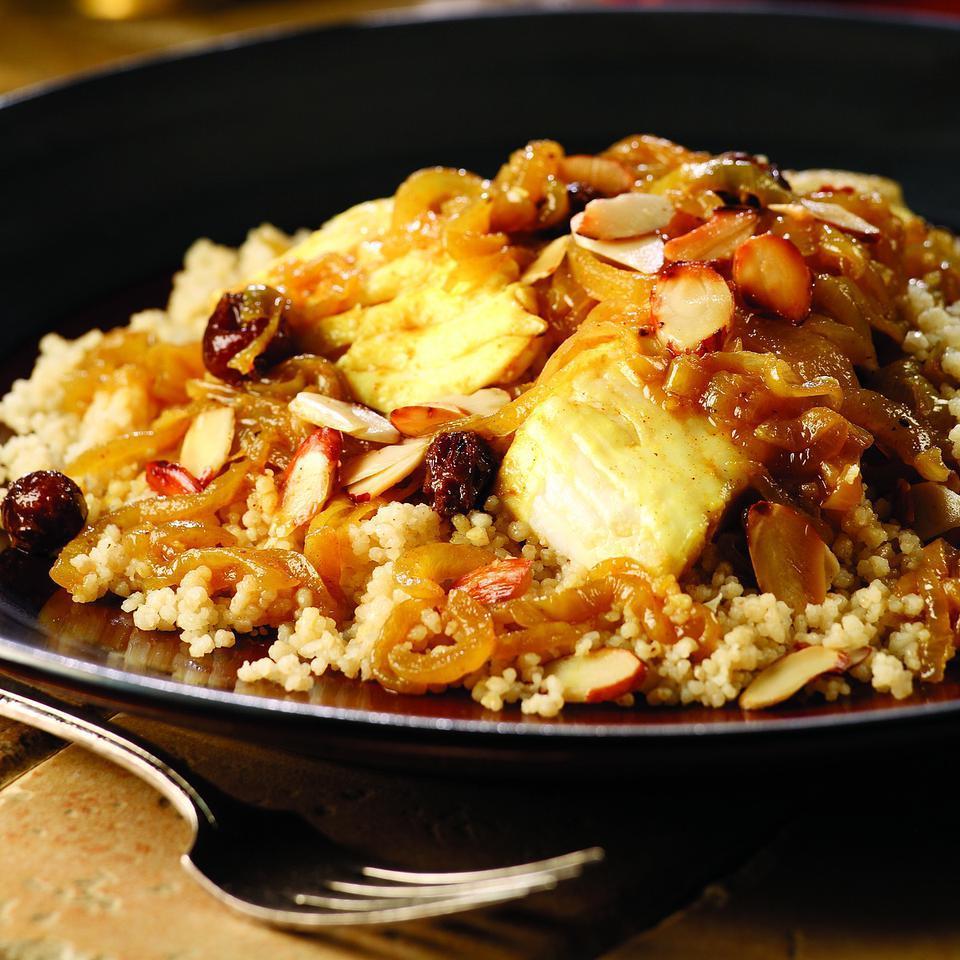 Fish Couscous with Onion T'faya Kitty Morse