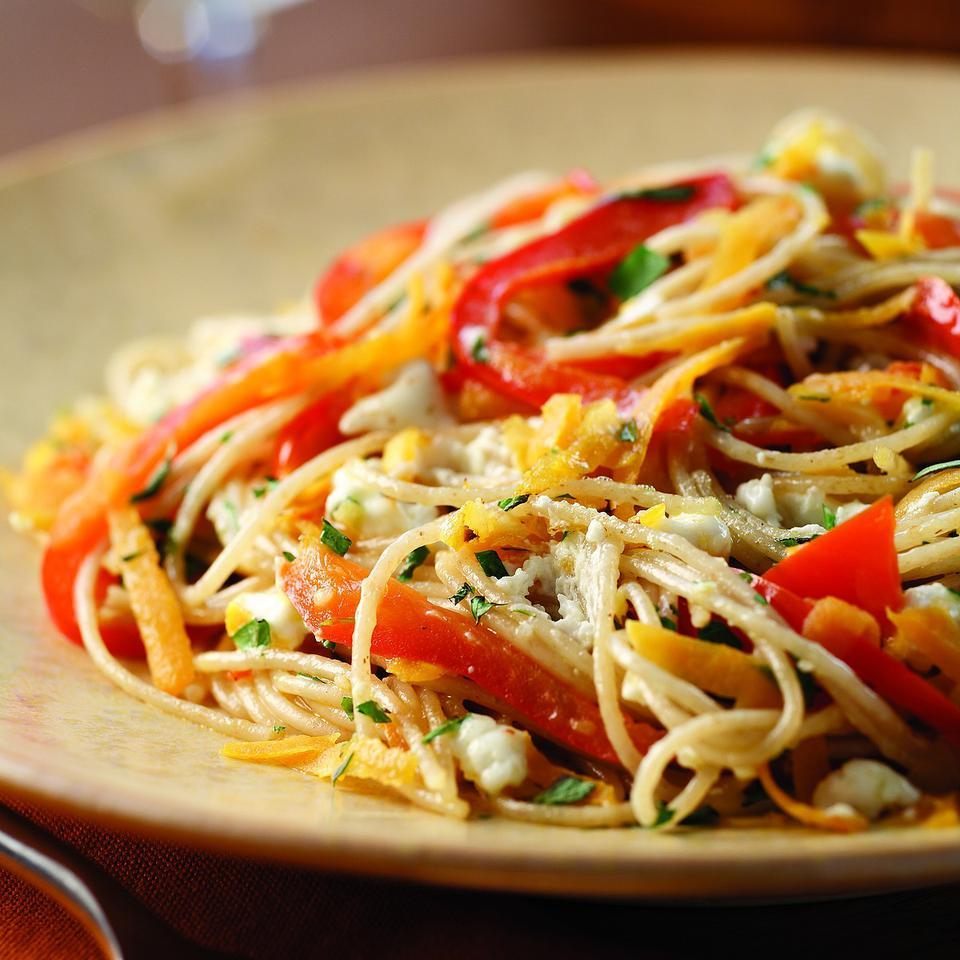 Sweet Potato & Red Pepper Pasta EatingWell Test Kitchen