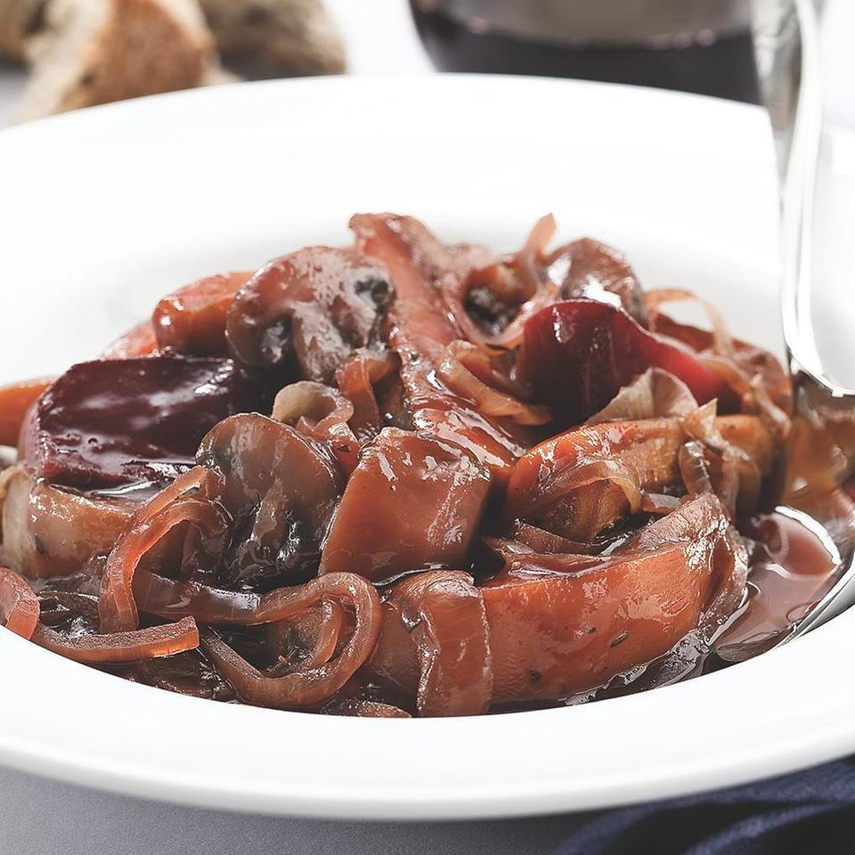 Red Wine Braised Roots Carolyn Malcoun