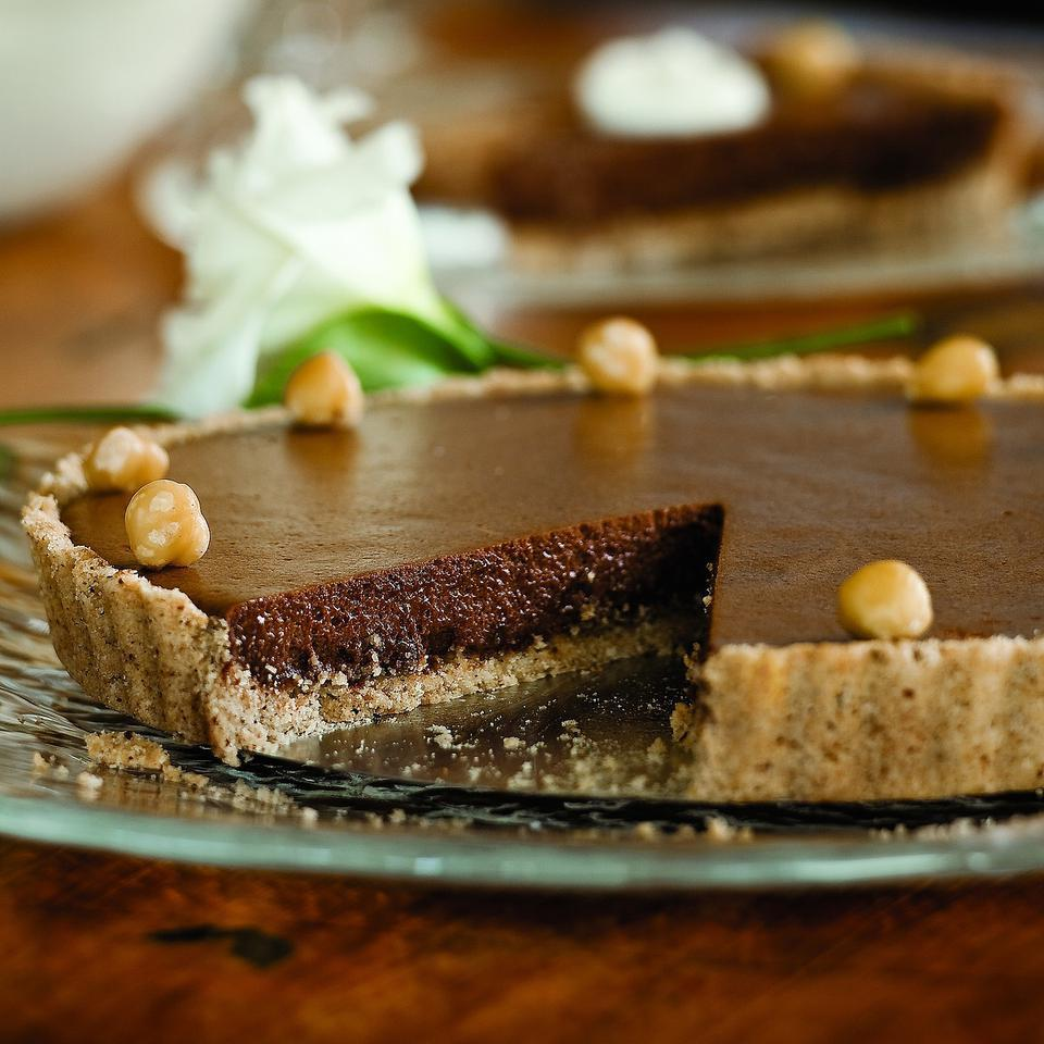 Chocolate Tart with Hazelnut Shortbread Crust Ellen Ecker Ogden