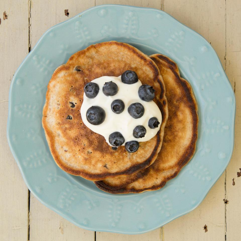 Blueberry-Pecan Pancakes EatingWell Test Kitchen