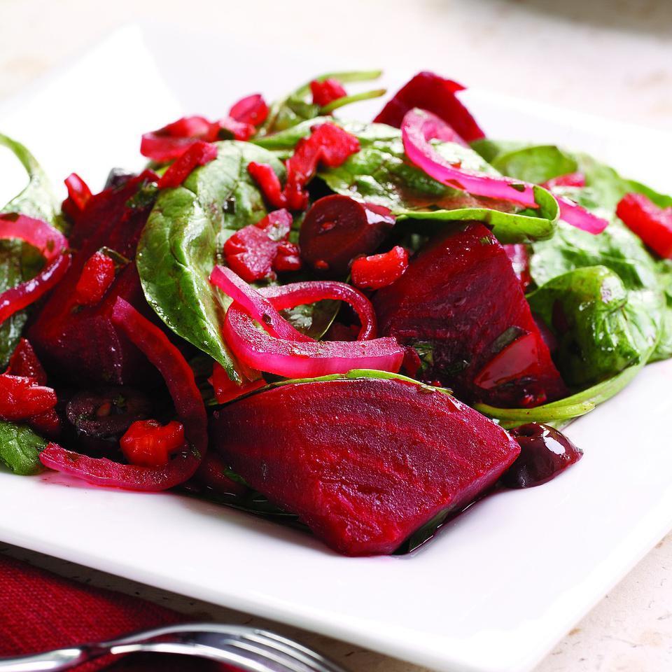 Warm Beet & Spinach Salad EatingWell Test Kitchen