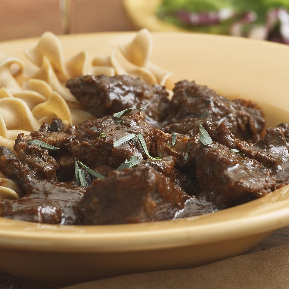 Braised Beef & Mushrooms Perla Meyers