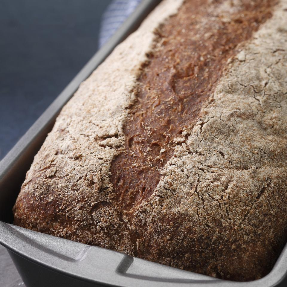 This whole-wheat loaf is excellent for sandwiches, toast or eating plain. It has a light, springy texture and a mellow, slightly sweet grain taste from cracked wheat. The crust is crisp when the bread is first baked, but gradually softens as it stands. Recipe by Nancy Baggett for EatingWell. Source: EatingWell Magazine, January/February 2009