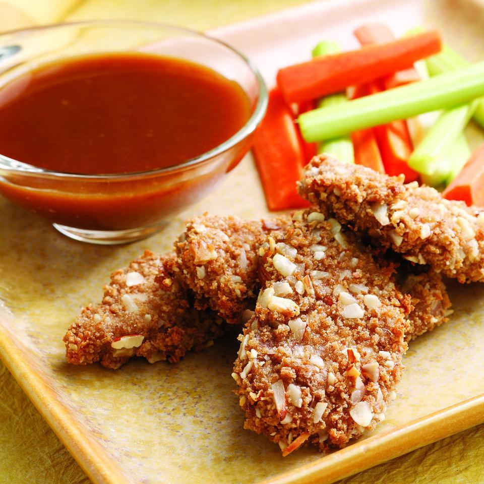 Almond-Crusted Pork with Honey-Mustard Dipping Sauce EatingWell Test Kitchen