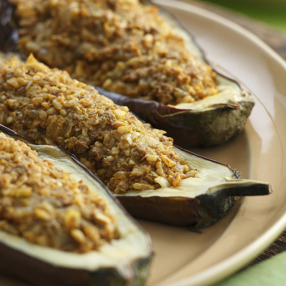 Indian-Spiced Stuffed Eggplant Bruce Aidells