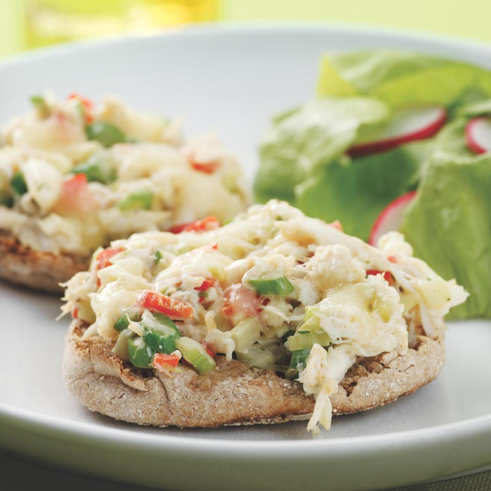 This crab and asparagus melt is delicious for a light spring dinner or lunch. You can use any type of crabmeat--including more affordable options available in pouches or cans near other canned fish or in tubs in the seafood department. Serve with a tossed salad.