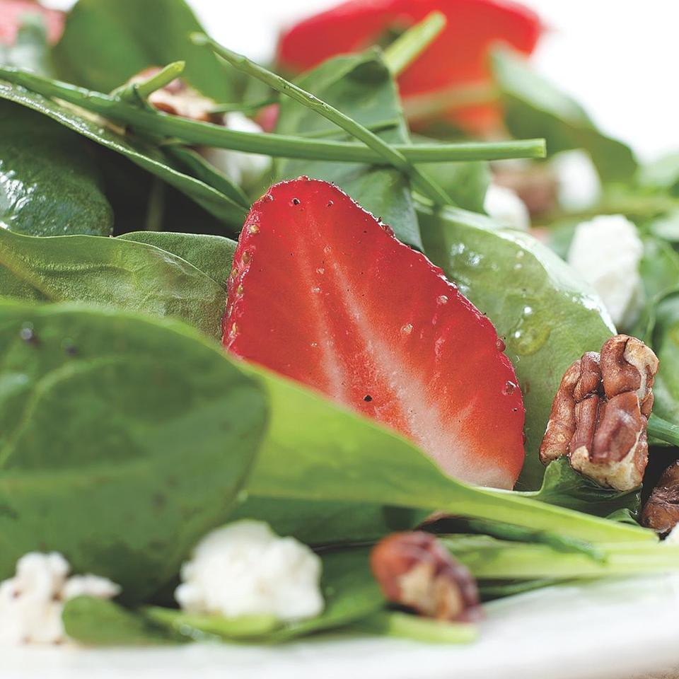 Green Salad with Strawberries & Goat Cheese Hilary Meyer
