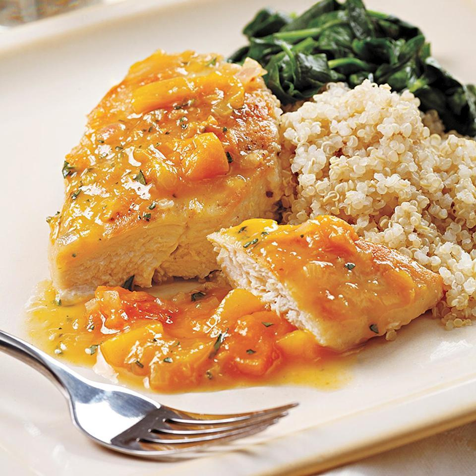 Seared Chicken with Apricot Sauce EatingWell Test Kitchen