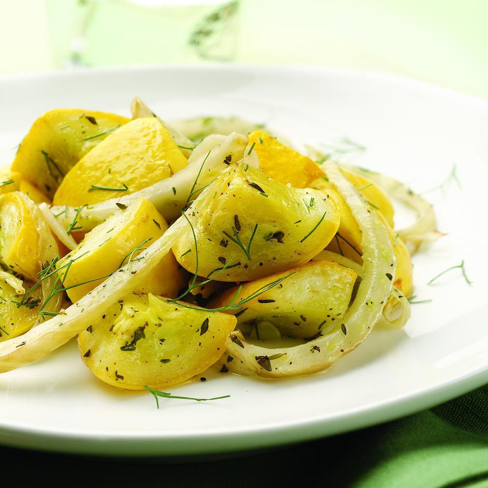 Roasted Squash & Fennel with Thyme EatingWell Test Kitchen