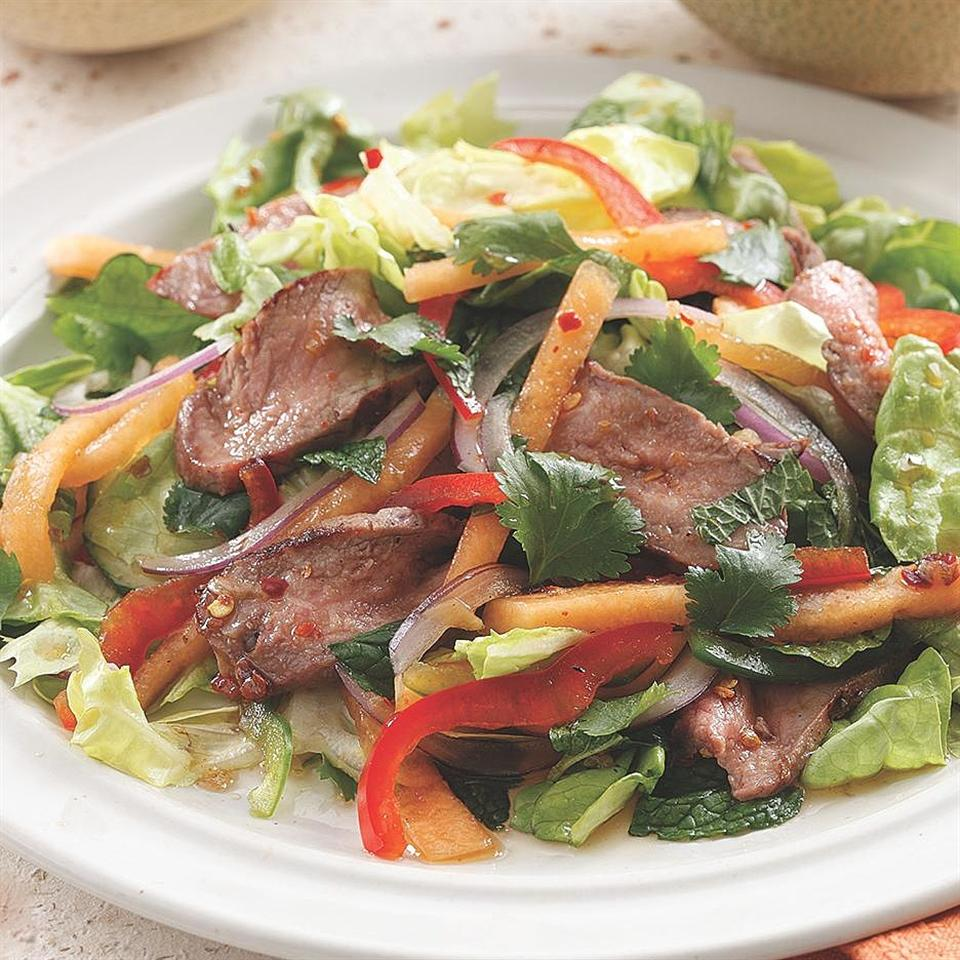 Thai-Style Melon & Beef Salad Marie Simmons
