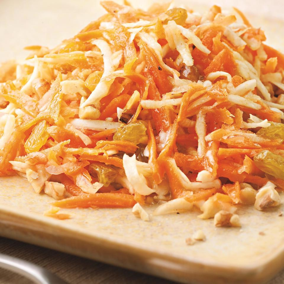 Carrot Salad with Honey-Lemon Dressing EatingWell Test Kitchen