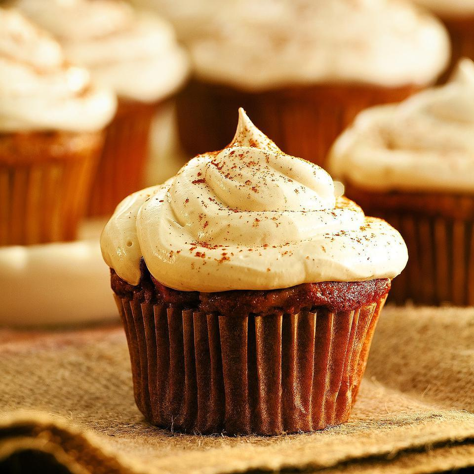 Apple Cupcakes with Cinnamon-Marshmallow Frosting EatingWell Test Kitchen