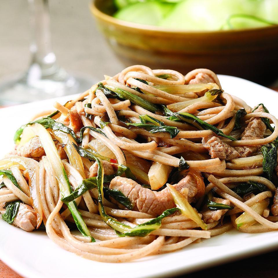 Pork & Bok Choy Stir-Fry for Two EatingWell Test Kitchen