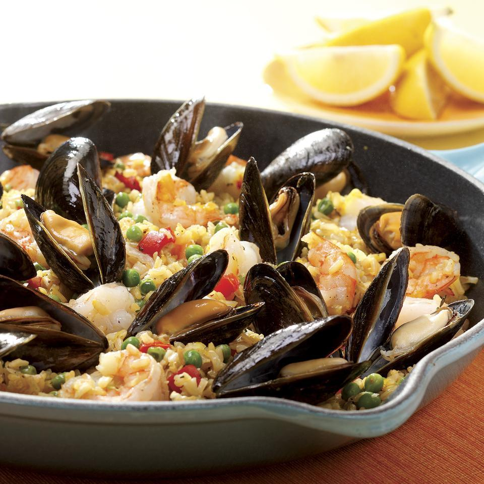 Quick Paella with Shrimp & Mussels EatingWell Test Kitchen