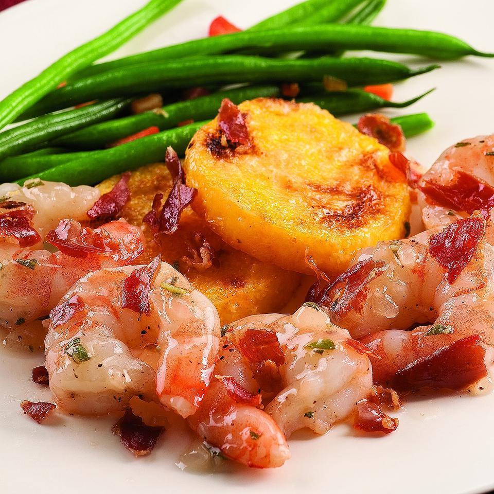 Shrimp Saltimbocca with Polenta EatingWell Test Kitchen