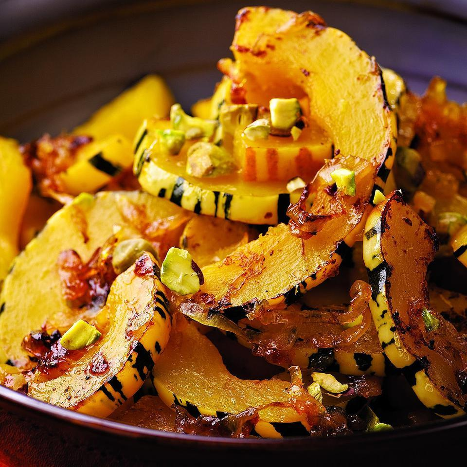 Delicata Squash with Orange & Pistachios EatingWell Test Kitchen