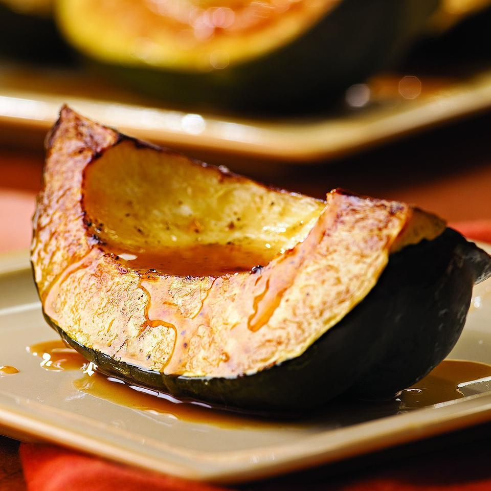 Roasted Acorn Squash with Cider Drizzle EatingWell Test Kitchen