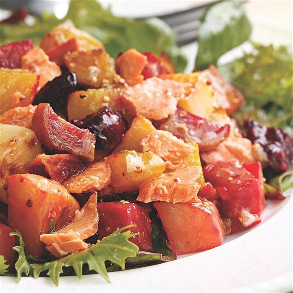 Salmon & Roasted Vegetable Salad EatingWell Test Kitchen