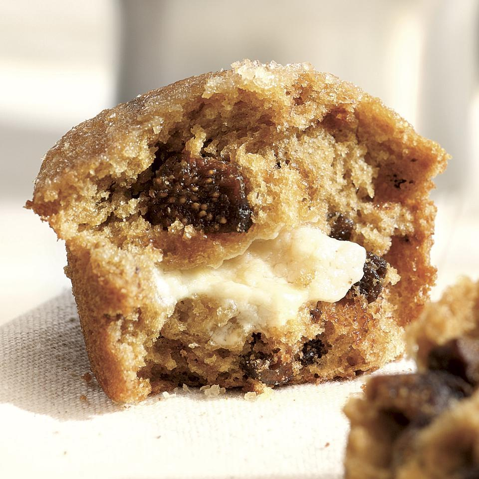 Honey- & Goat Cheese-Filled Fig Muffins Maria Speck