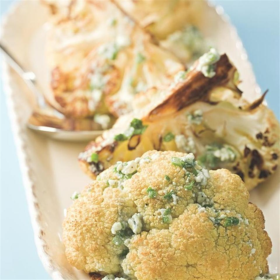 Roasted Cauliflower with Blue Cheese Vinaigrette EatingWell Test Kitchen